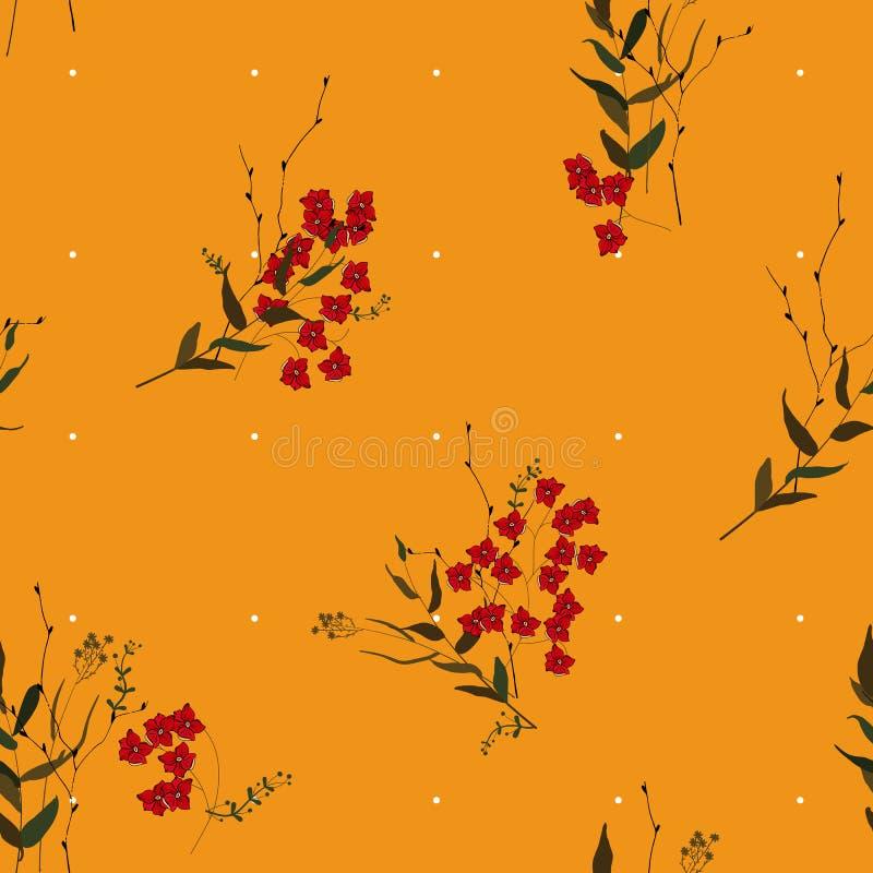 Fondo de la vendimia wallpaper Flowe aislado realista floreciente libre illustration