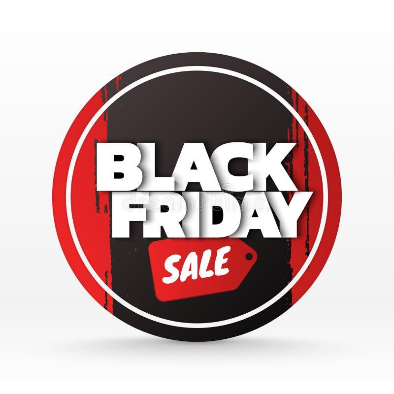 Fondo de la venta de Black Friday plantilla de la bandera Ilustración del vector ilustración del vector