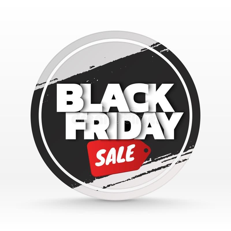 Fondo de la venta de Black Friday plantilla de la bandera Ilustración del vector stock de ilustración