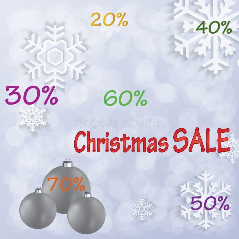 Fondo de la venta de la Navidad stock de ilustración