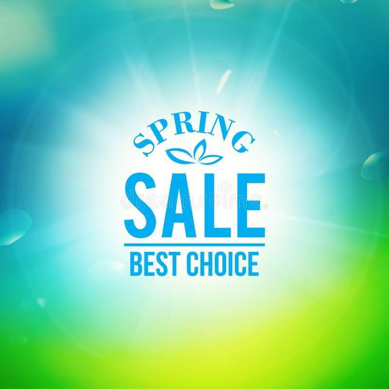 Fondo de la venta de la primavera stock de ilustración