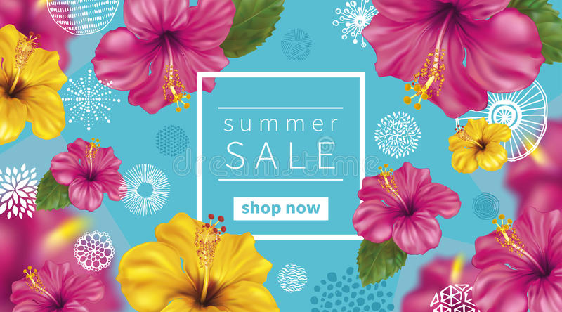 Fondo de la venta del verano ilustración del vector
