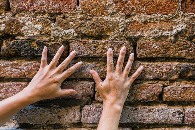 Fondo de la vieja textura de la pared de ladrillo fotos de archivo