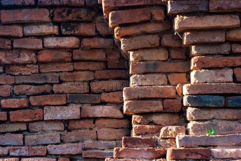Fondo de la vieja textura del modelo de la pared de ladrillo imágenes de archivo libres de regalías