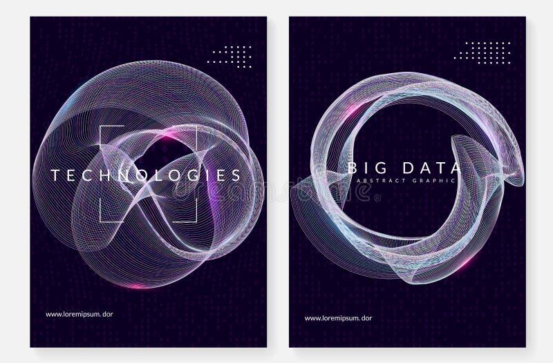 Fondo de la visualización Tecnología para los datos grandes, artificial adentro libre illustration