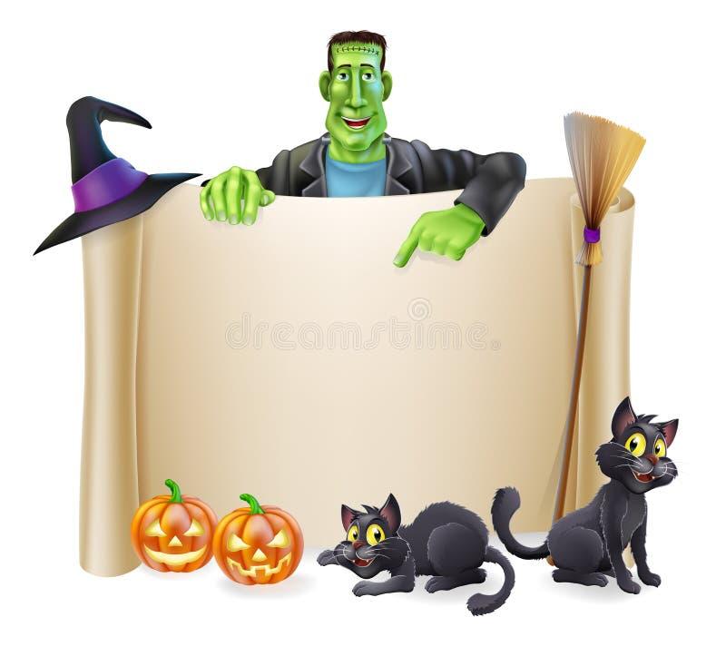 Fondo de la voluta de Halloween stock de ilustración
