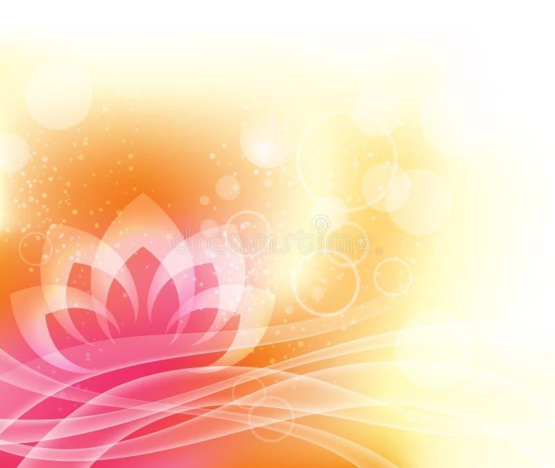 Fondo de la yoga de Lotus stock de ilustración