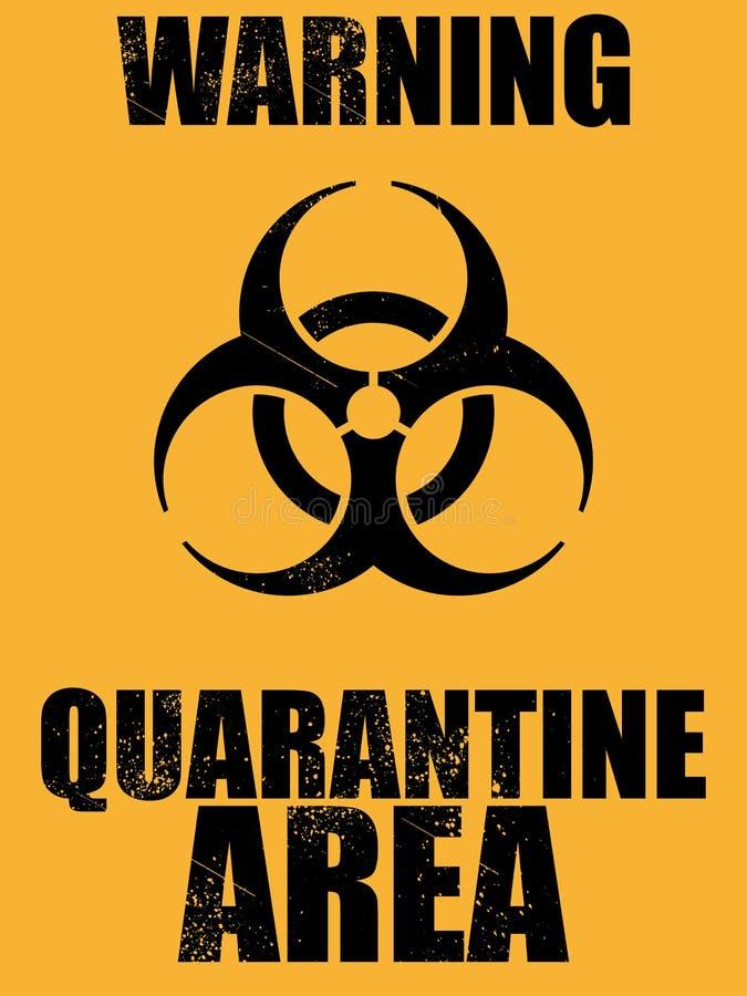 Fondo de la zona de cuarentena del Biohazard libre illustration