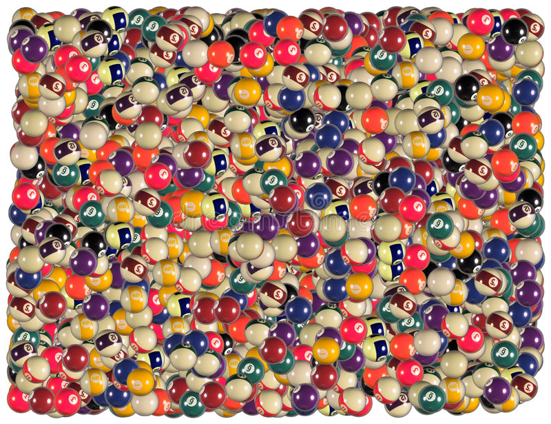 Fondo de las bolas de billar ilustración del vector