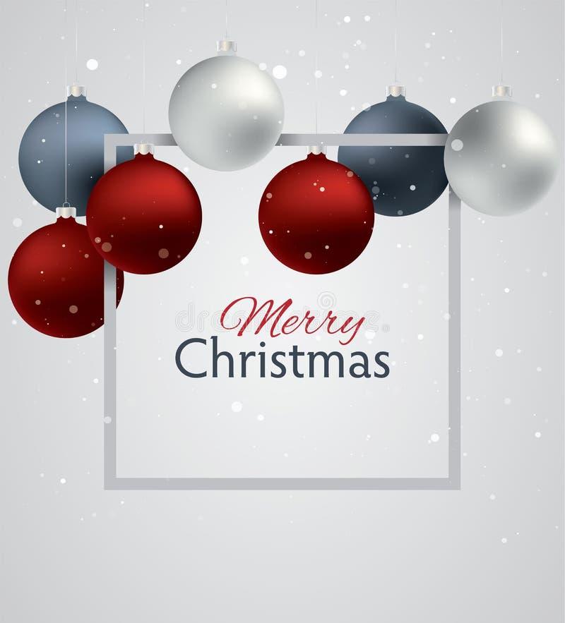 Fondo de las bolas de la Navidad libre illustration