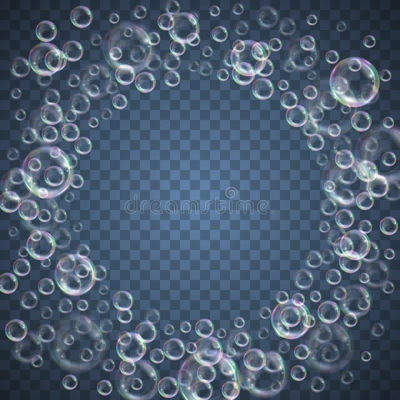 Fondo de las burbujas de jab?n ilustración del vector