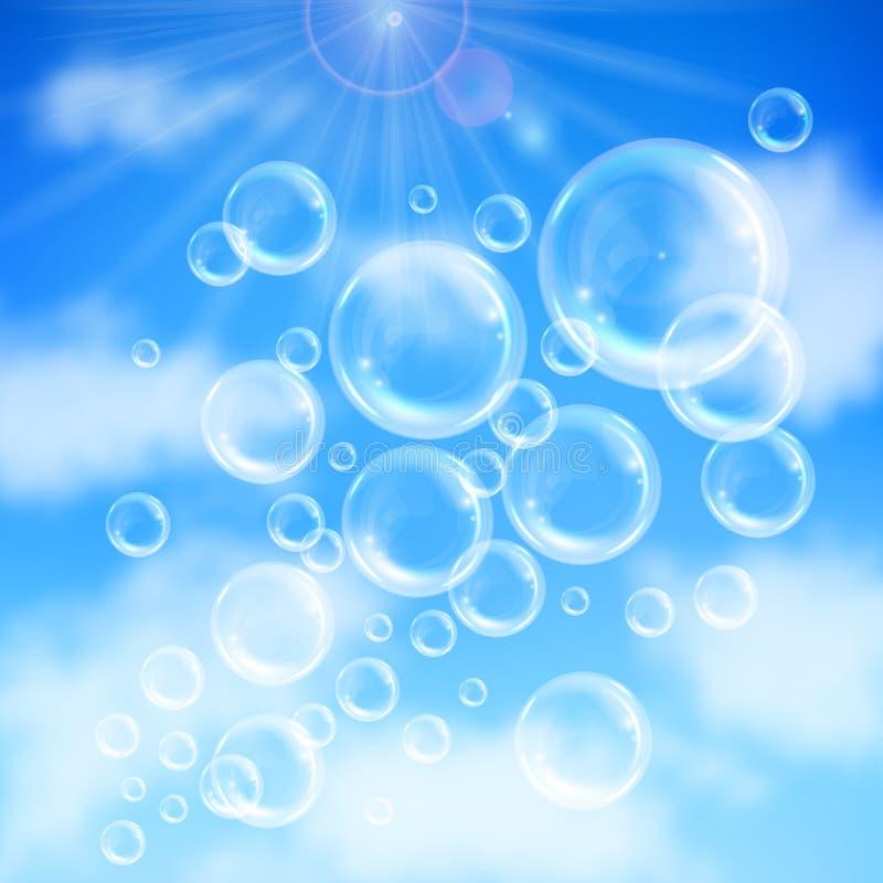 Fondo de las burbujas de jab?n libre illustration