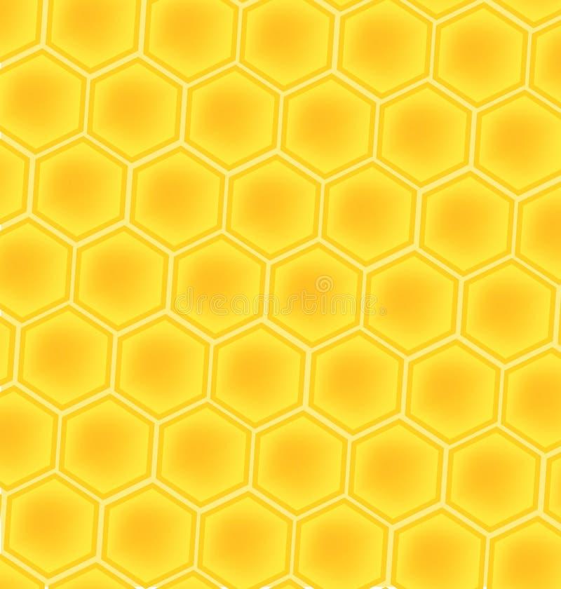 Fondo de las células de la miel de la abeja libre illustration