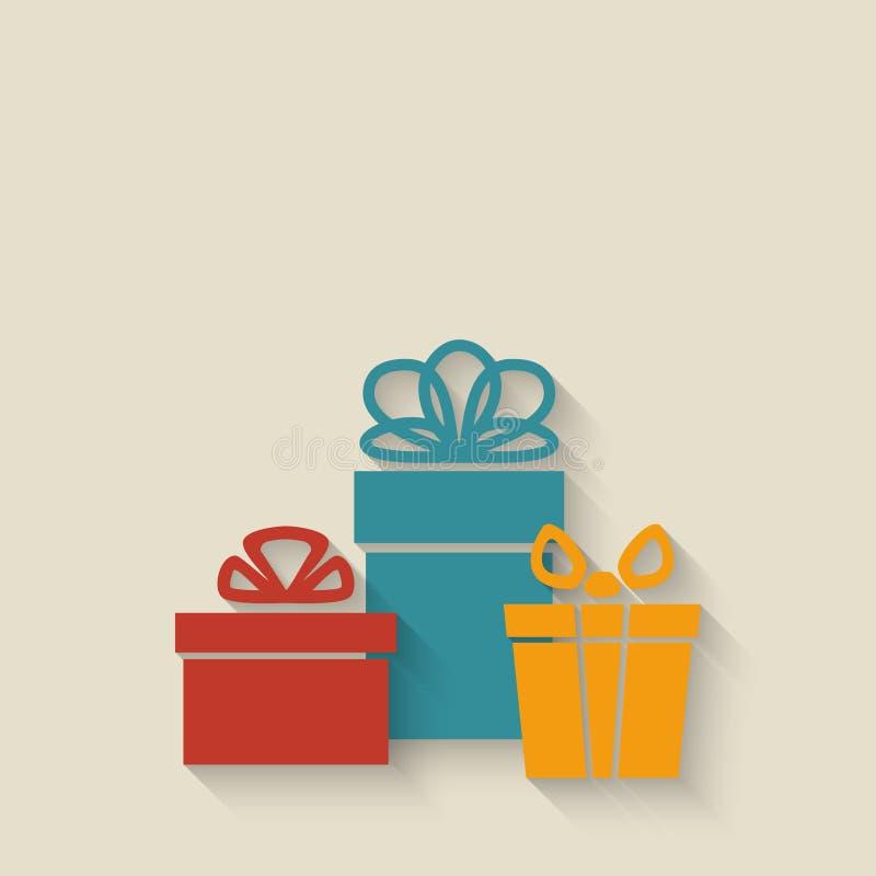 Fondo de las cajas de regalo stock de ilustración