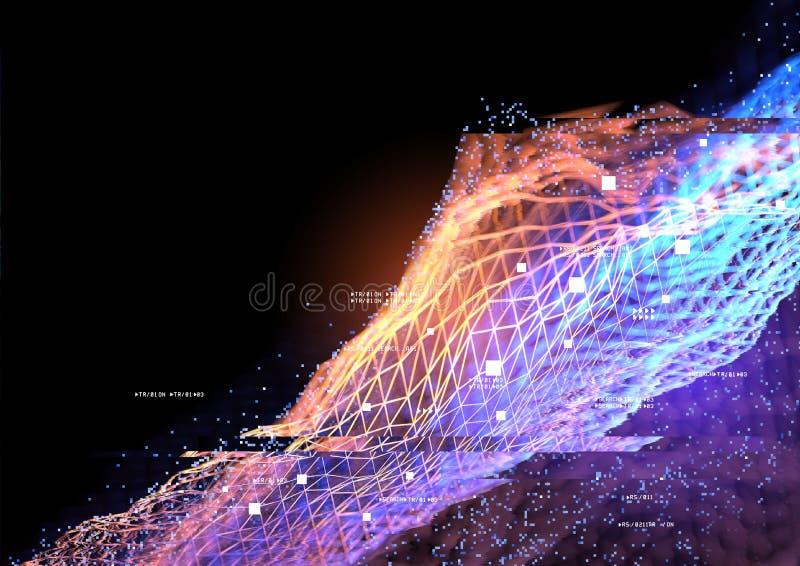 Fondo de las conexiones de datos ilustración del vector