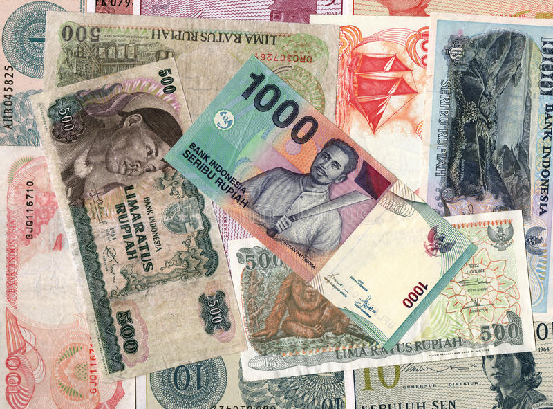 Fondo de las cuentas de dinero de Indonesia foto de archivo