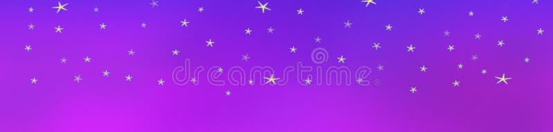 Fondo de las estrellas en el cielo del terciopelo stock de ilustración