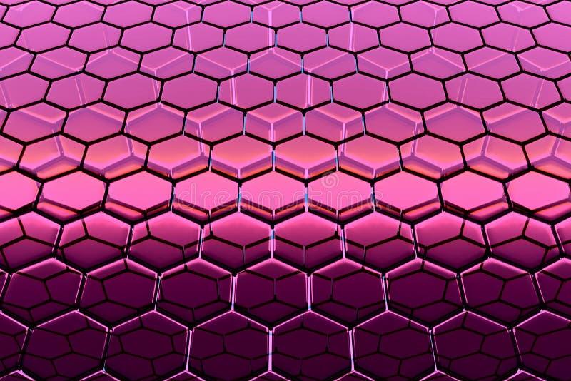 Fondo de las estructuras de enrejado hexagonales, similar a los panales
