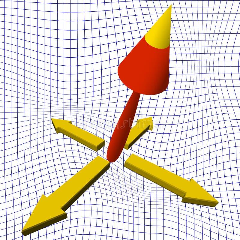 fondo de las flechas 3d stock de ilustración