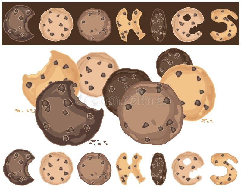 Fondo de las galletas ilustración del vector