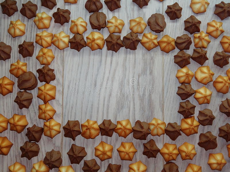 Fondo de las galletas fotos de archivo