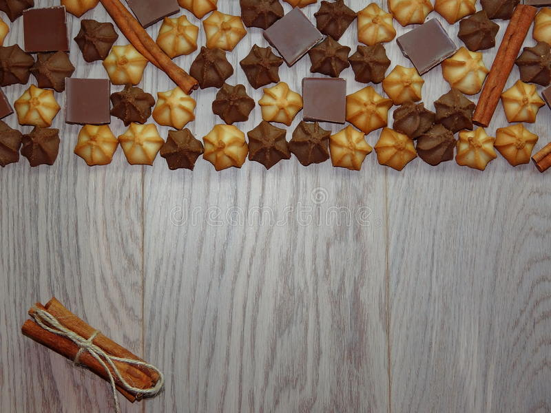 Fondo de las galletas foto de archivo libre de regalías