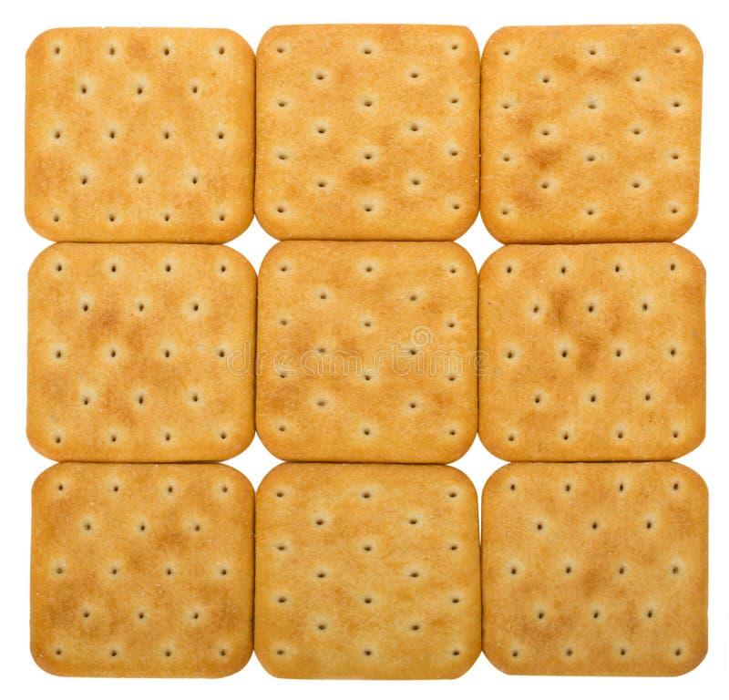 Fondo de las galletas de la sal imagen de archivo libre de regalías