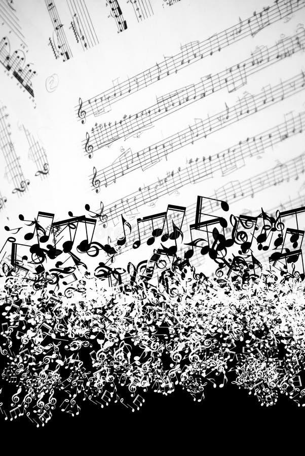 Fondo de las hojas de música imagen de archivo libre de regalías