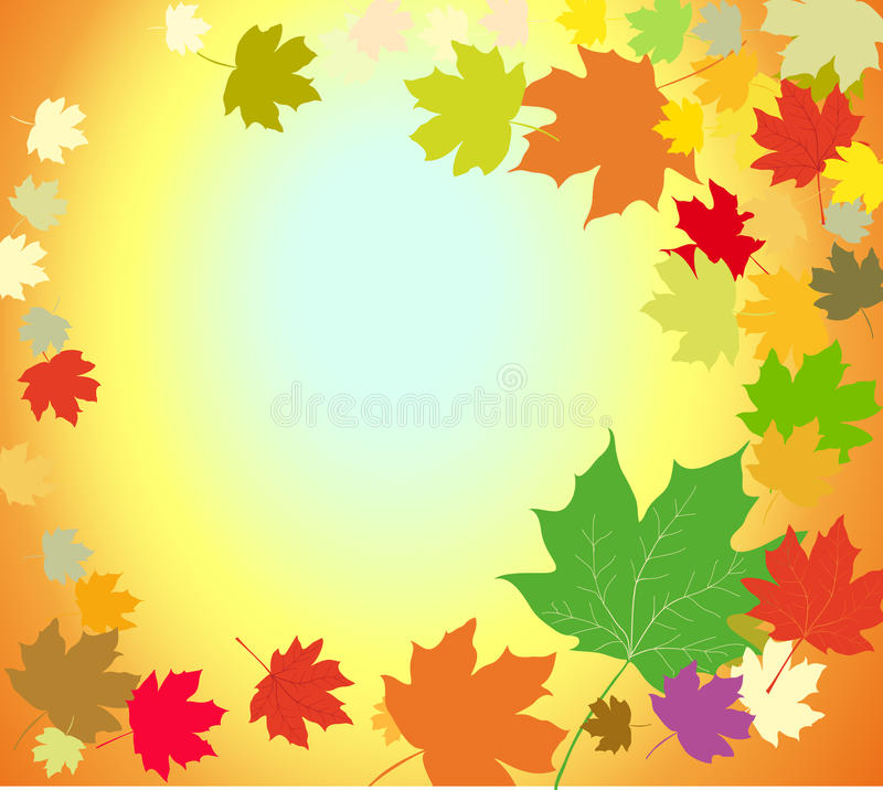 Fondo de las hojas de otoño stock de ilustración