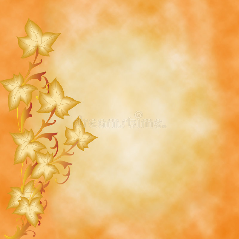 Fondo de las hojas de otoño libre illustration