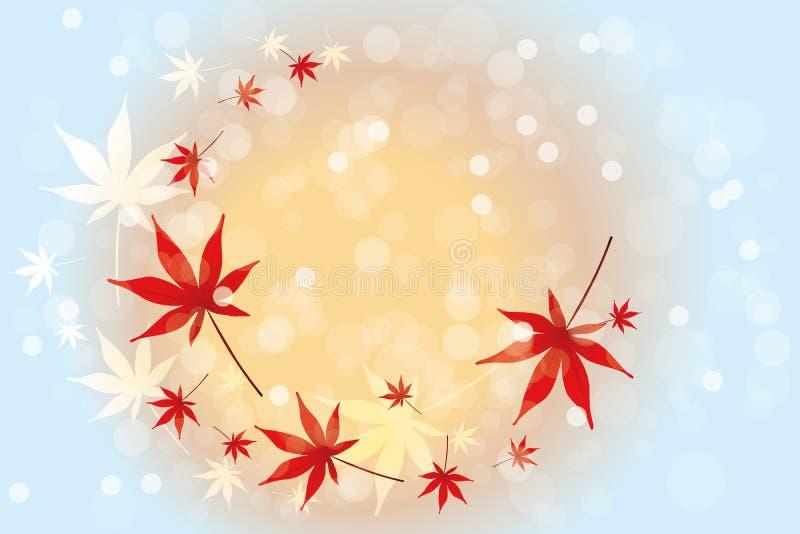 Fondo de las hojas de otoño - ejemplo común stock de ilustración