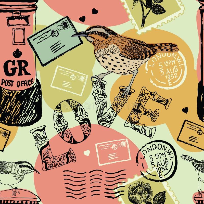Fondo de las letras de amor libre illustration
