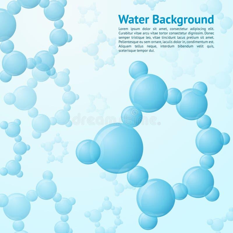 Fondo de las moléculas de agua libre illustration