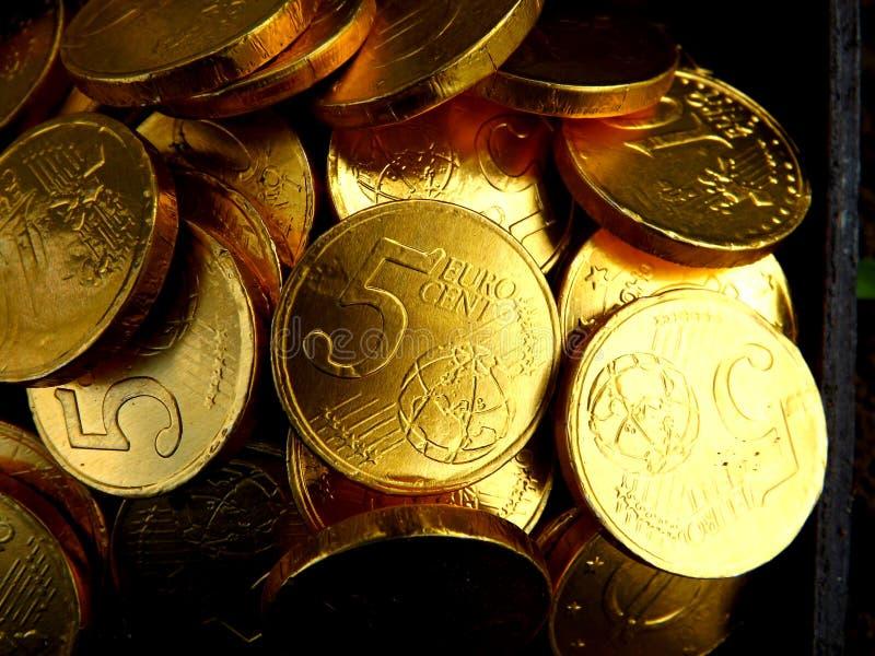 Fondo de las monedas de oro fotos de archivo