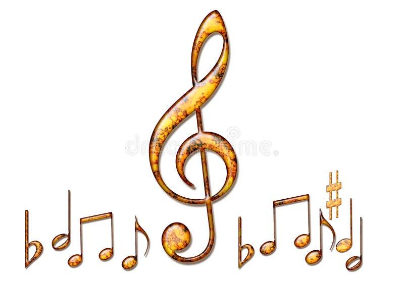 Fondo de las notas musicales ilustración del vector