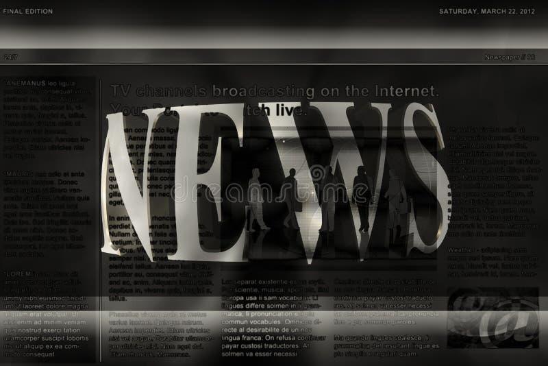 Fondo de las noticias stock de ilustración