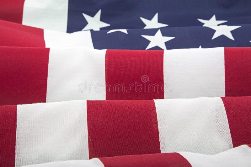 Fondo de las ondulaciones de las barras y estrellas de la bandera americana fotos de archivo libres de regalías