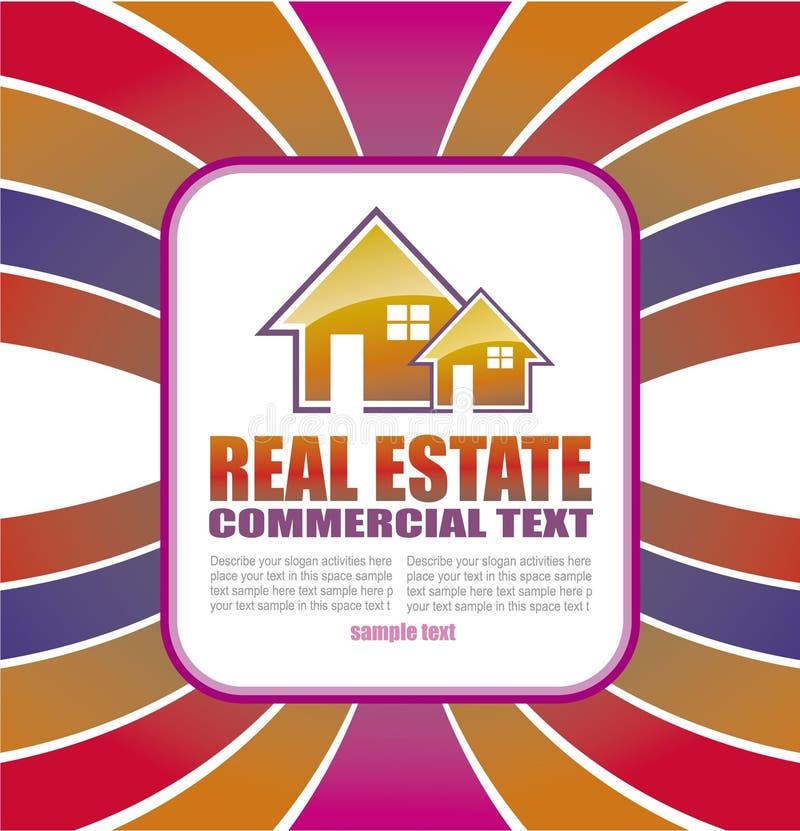 Fondo de las propiedades inmobiliarias para el folleto de aviadores stock de ilustración