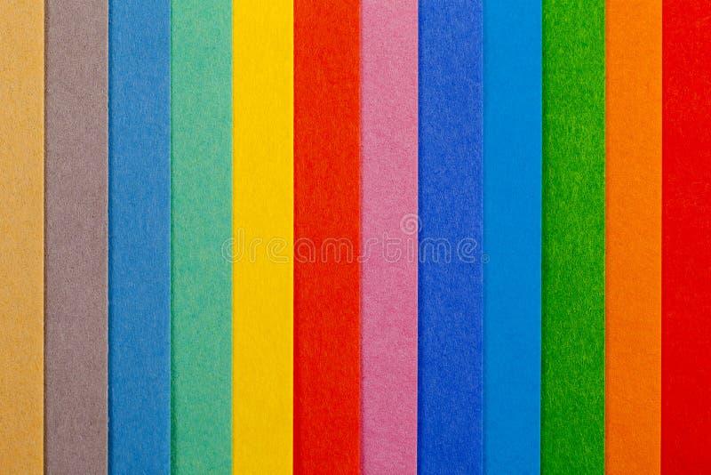 Fondo de las rayas verticales del paralelo colorido del papel fotos de archivo libres de regalías