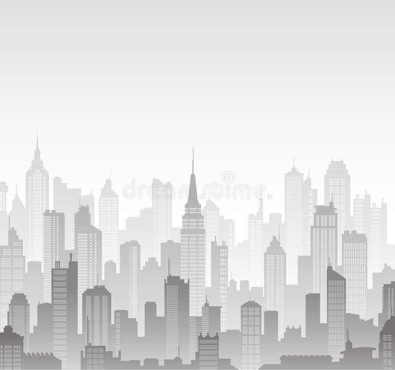 Fondo de las siluetas de los edificios del vector stock de ilustración