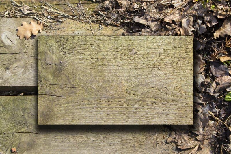 Fondo de las tarjetas de madera fotografía de archivo libre de regalías