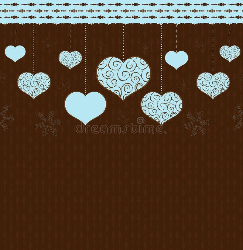 Fondo De Las Tarjetas Del Día De San Valentín Foto de archivo