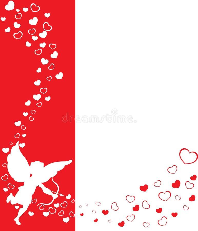 Fondo de las tarjetas del día de San Valentín del eros libre illustration