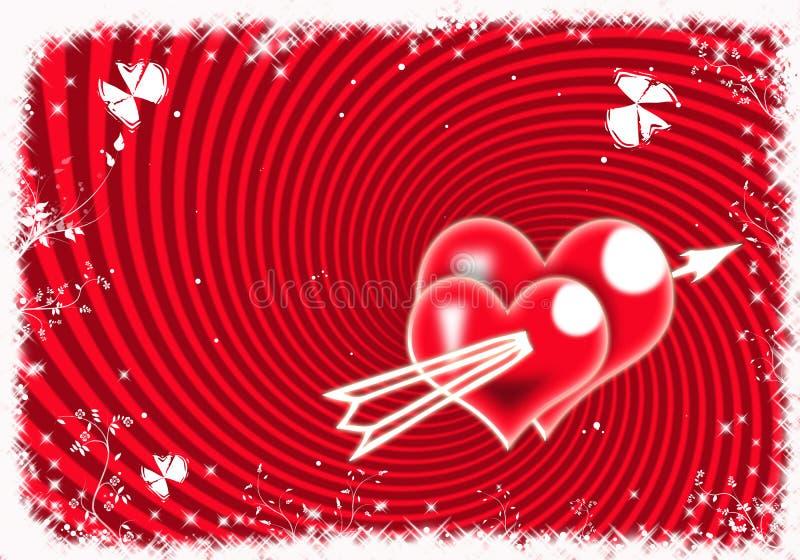 Fondo de las tarjetas del día de San Valentín - ejemplo libre illustration