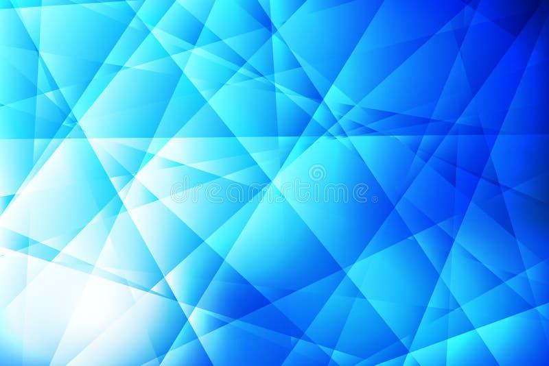 Fondo de las texturas azul de cristal abstracto y ligero stock de ilustración