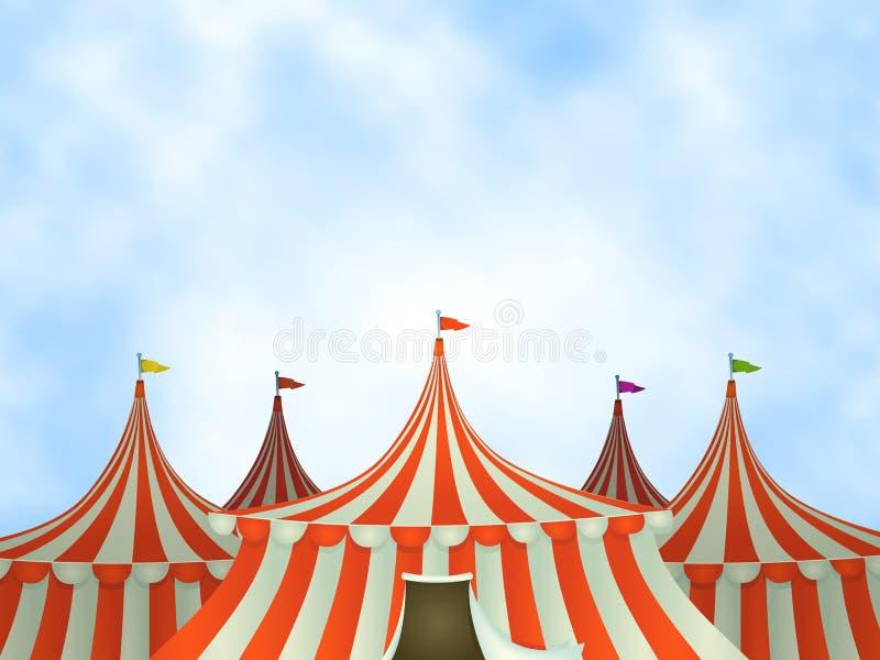 Fondo de las tiendas de circo stock de ilustración