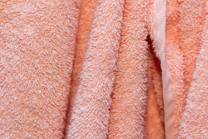 Fondo de las toallas de Terry rosadas imágenes de archivo libres de regalías