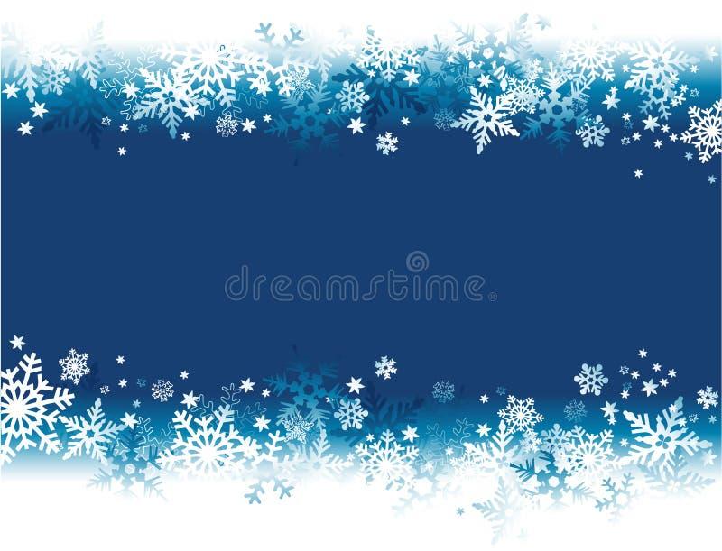 Fondo de las vacaciones de invierno con los copos de nieve libre illustration
