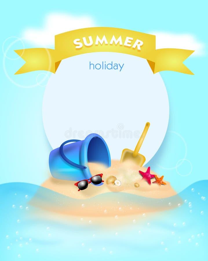 Fondo de las vacaciones de verano libre illustration