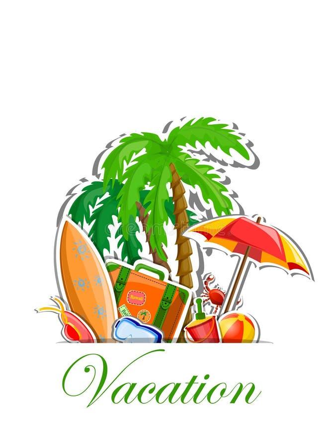 Fondo de las vacaciones del viaje stock de ilustración
